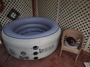 Inflatable hot spa,  comfortably seating two