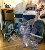 For Sale : 3 in 1 Stokke Xplory V4 Stroller Beige