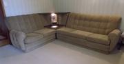 corner lounge suite,  fabric.